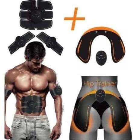 estimulador muscular fitness academia em casa