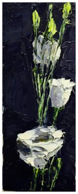 Lillies in a Vase Still Life, Colin Halliday