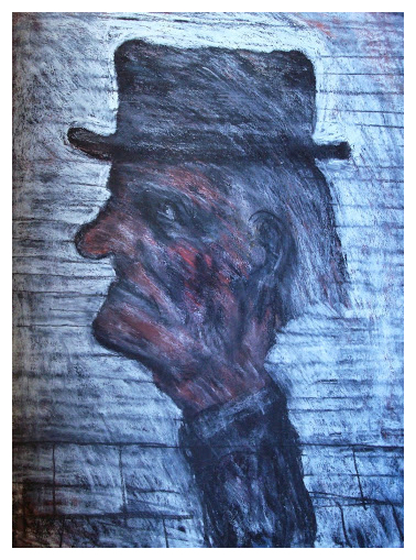 Arthur Berry Paintings Man with Hat Trent Art