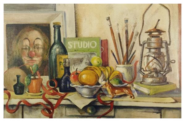 Still life with red tape (1958), John Shelton