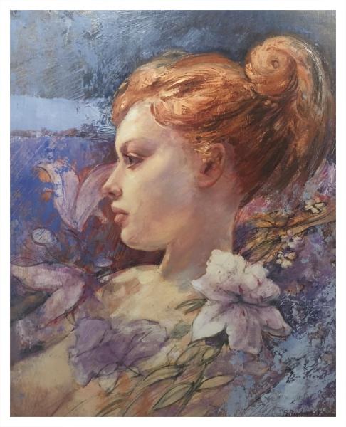 Girl with Lillies, Bohuslav Barlow