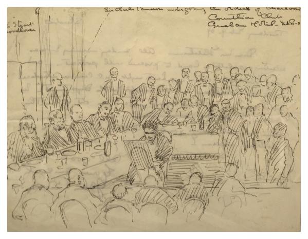 Sketching Sir Charles Cameron, John Currie