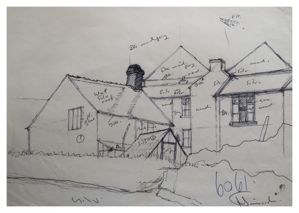House with Lean-To (Working Sketch), Jack Simcock