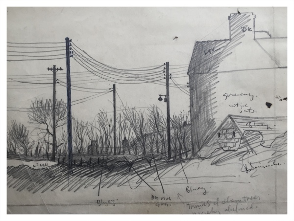 Telegraph Lines (Working Sketch), Jack Simcock