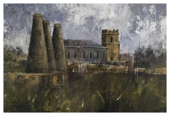 Post Industrial Landscape (St Joseph's Church Burslem), David Brammeld