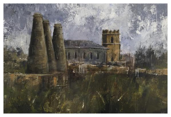 Post Industrial Landscape (St Joseph's Church Burslem), David Brammeld