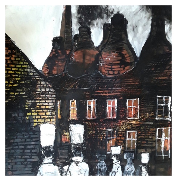 Pearsall, Ian R. (1967 – ) - A Longton Pottery Works ( an ode to Phoenix Works) - Trent Art