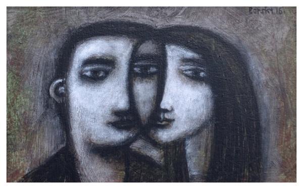 Borsky, Jiri (1945 – ) Lovers Black - Trent Art