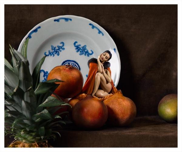 Hall, James (1954 - ) Still Life with Pomegranates - Trent Art