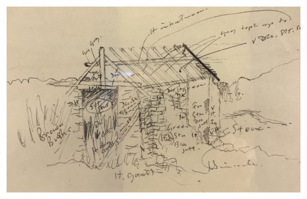 Ruined Outbuilding (Working Sketch), Jack Simcock