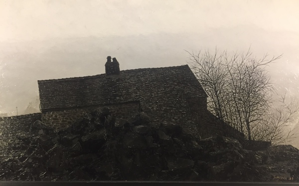 Rockside Cottage, Mow Cop with Figure, Jack Simcock