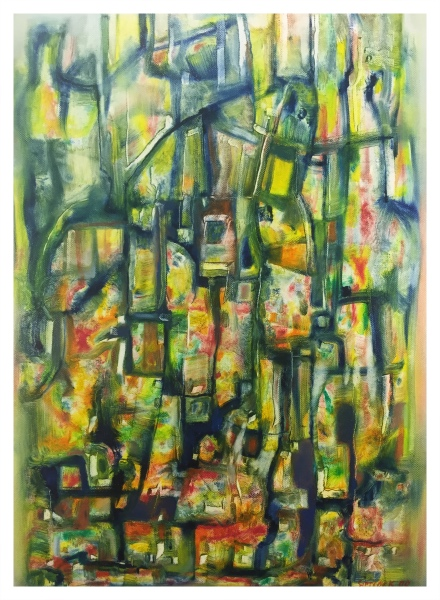 Abstract on Canvas, Jack Simcock
