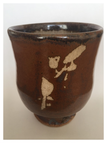 Yonomi with Wax Resist Pattern and Iron Overglaze, Jim Malone