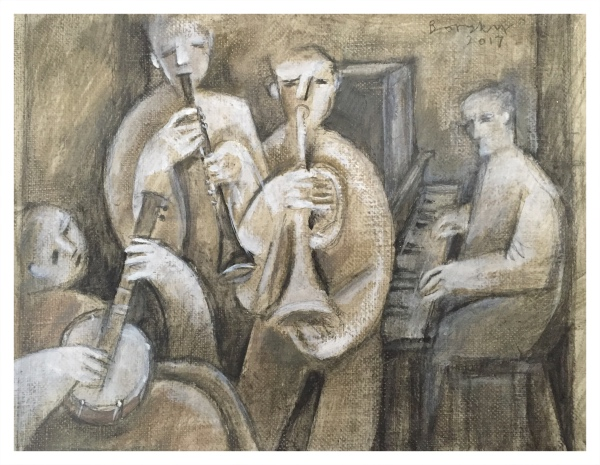 Borsky, Jiri (1945-) Four Musicians - Trent Art