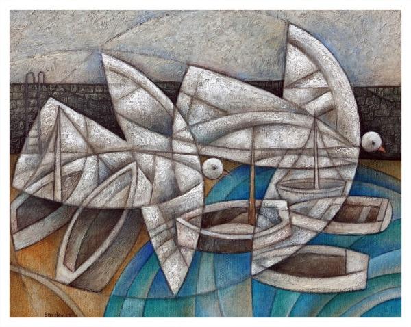 Borsky, Jiri (1945 – ) Birds & Boats II - Trent Art