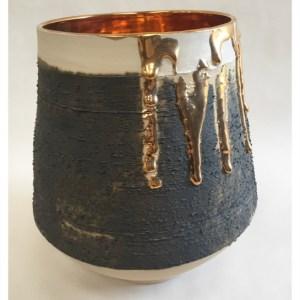 McCarthy, Alex ( ) Medium Vessel with Gold Lustre Interior