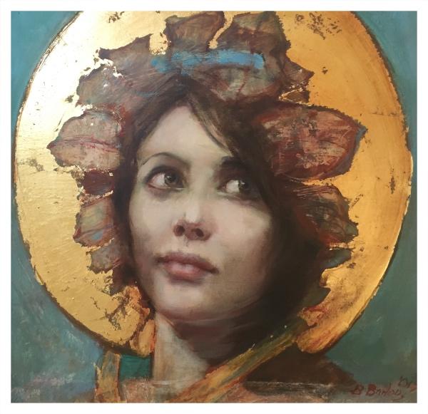 Barlow, Bohuslav (1947-) Tasha in Gold - Trent Art