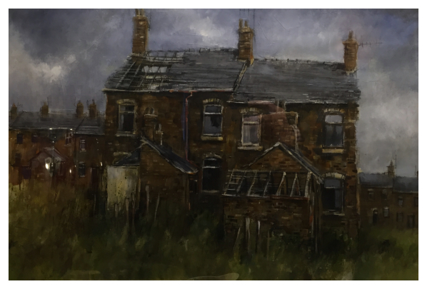Brammeld, David ( ) Derelict City - Terraced Backs - Trent Art