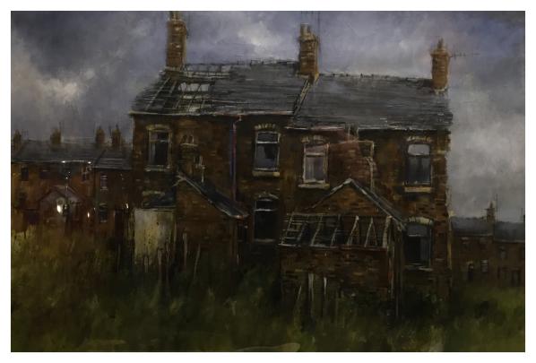 Brammeld, David ( ) Derelict City - Terraced Backs - Trent Art