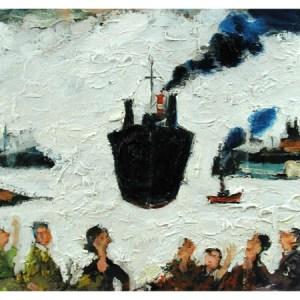 Stafford, Simeon (1956 – ) Tanker Arriving