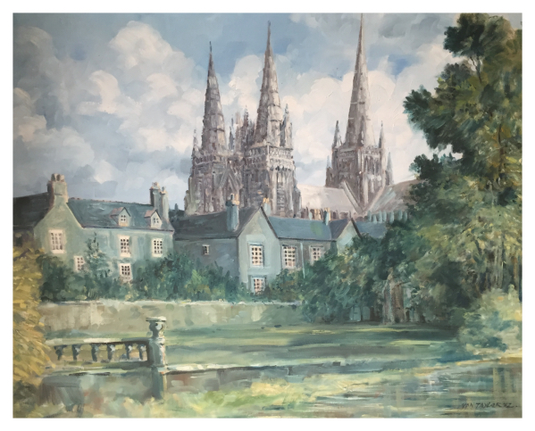 Taylor, Ivan (1946 – ) Lichfield Cathedral - Trent Art
