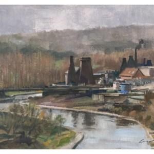 Taylor, Ivan (1946 – ) View Towards Middleport