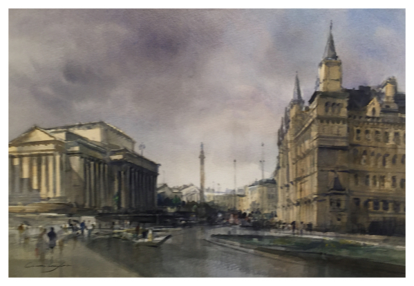 Taylor, Ivan (1946 – ) Liverpool, St Georges Hall & The Walker Gallery - Trent Art