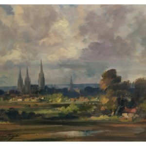 Taylor, Ivan (1946 – ) Lichfield Cathderal From The West