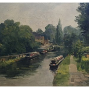 Taylor, Ivan (1946 – ) Canal at Lymm, Cheshire