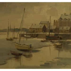 Taylor, Ivan (1946 – ) Barmouth Harbour Winter