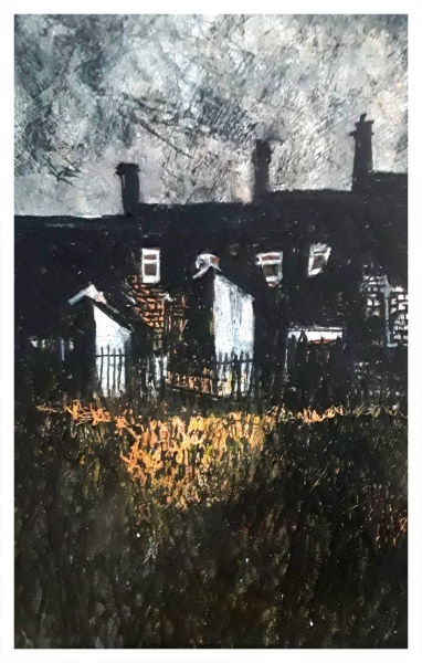 Pearsall, Ian R. (1967 – ) Last Ray of a Winter Sun (Hanley Terraces) - Trent Art