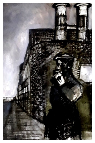 Pearsall, Ian R. (1967 – ) Waiting (Uttoxter Road, Longton) - Trent Art