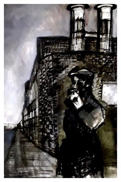 Pearsall, Ian R. (1967 – ) Waiting (Uttoxter Road, Longton) - Trent Art