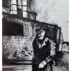 Pearsall, Ian R. (1967 – ) Homeward after work (Longton streets)
