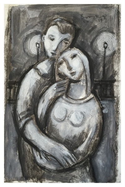 Borsky, Jiri (1945 - ) Lovers with Lanterns - Trent Art