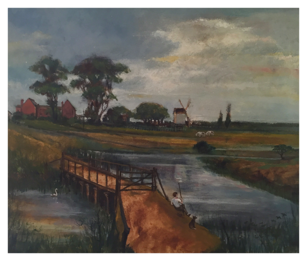 Shelton John (1923 – 1993) The Old Wooden Bridge - Trent Art