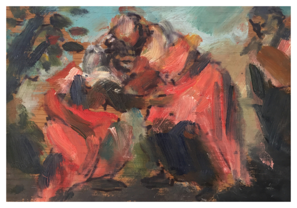 Howard, Ghislaine (1953 – ) After Tintoretto's Visitation - Trent Art