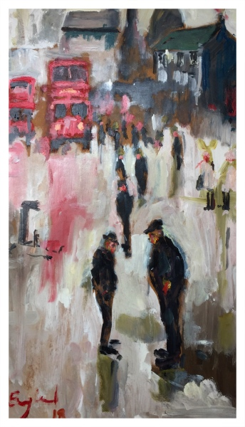 England, Frederick J NDD ATC (London) MFPS (1939 – ) Two men out - Trent Art