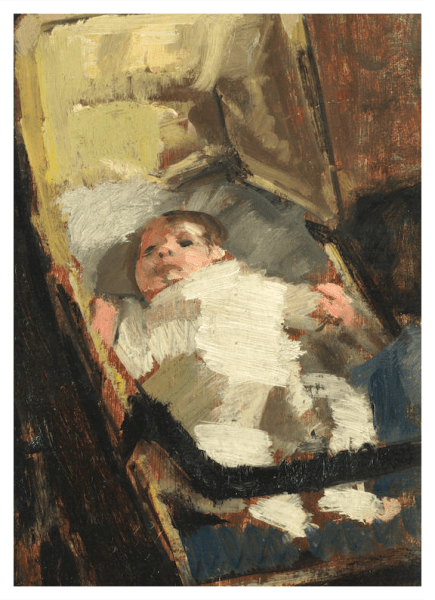 Spear, Ruskin CBE, RA (1911 - 1990) Baby in Pram (1943) - Trent Art