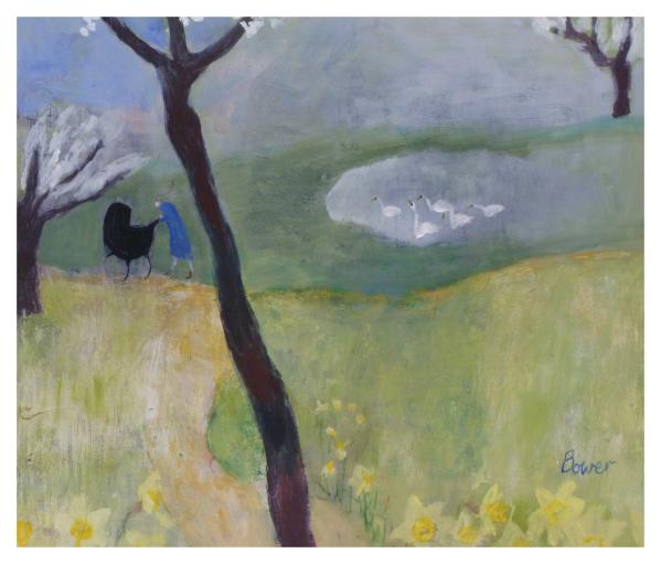 Bower, Susan RBA ROI (1953 - ) A walk in the park ? - Trent Art