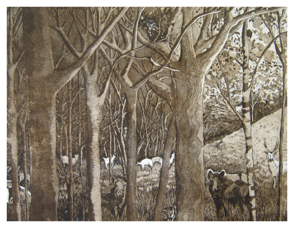 Halsby, Miranda RBA (1948 - ) If you go down to the woods - Trent Art