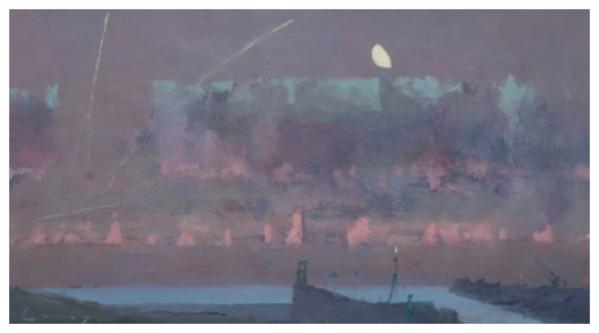 Cuming, Fred RA Hon.RBA NEAC Hon.ROI (1930 - ) Dawn, Rye Harbour Entry - Trent Art
