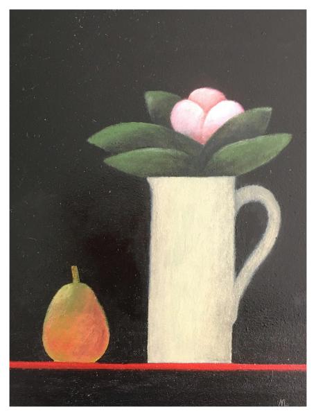 Leman, Martin RBA RWS (1934 - ) Pink Flower - Trent Art