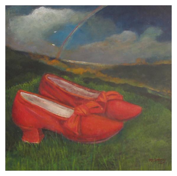 Slattery, Nicola RBA (1963 - ) Red Shoes on Grass - Trent Art