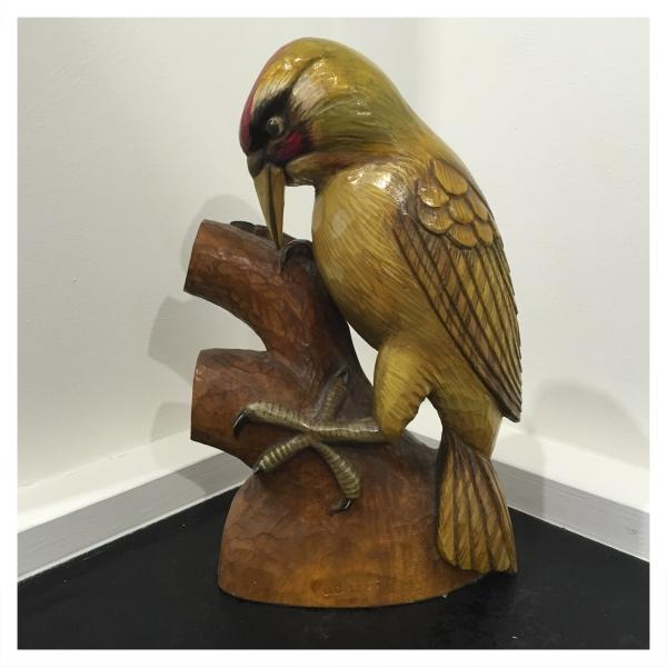 Clarkson, Jack (1906-1986) Kingfisher Woodcarving - Trent Art