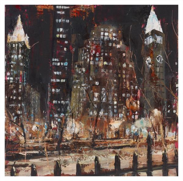 Bhatt, Akash RBA RWS (1972 - ) Late Night March NY - Trent Art