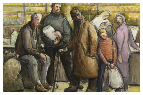 Borsky, Jiri (1945-) Polish Shop I - Trent Art