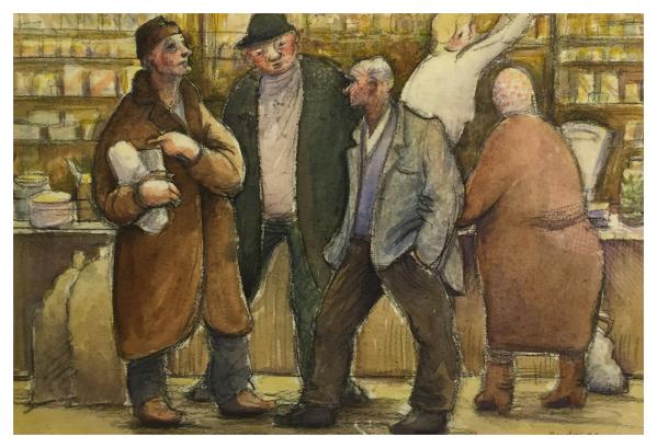 Borsky, Jiri (1945-) Polish Shop II - Trent Art