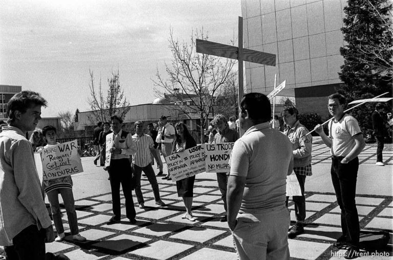 U.S. out of Honduras rally at BYU