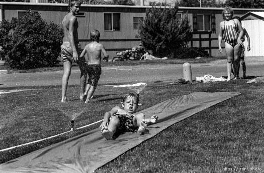 Slip and Slide in a trailer park. Jake McDonald